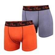 2 pack pánskych boxeriek VIANIA Vman Grey Orange