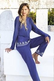 Dámsky letný komplet Santorini modrý