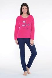 404fa0aa4 Dámske hrejivé pyžamo Badge ružové