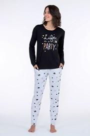 Dámske pyžamo Party čierne