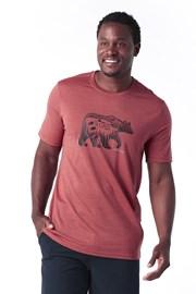 Pánske tričko SMARTWOOL Merino 150 červené