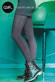 Vzorované pančuchové nohavice Colette Chic 03