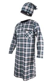 Pánska nočná košeľa s čiapočkou CORNETTE Dark Blue