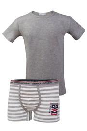 Chlapčenský komplet boxeriek a trička Enrico Coveri