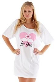 Dámska nočná košeľa Love Birds ružová