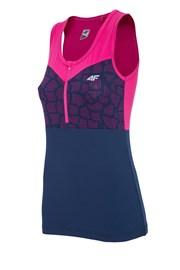 Dámske športové tričko 4F Pink Dry Control bez rukávov