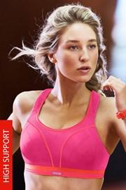 Športová podprsenka Shock Absorber Ultimate Run S5044 Pink bez kostíc