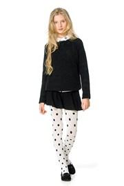 Dievčenské bavlnené pančuchy Sherry ecru