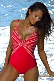 Dámske jednodielne plavky Yalia Red