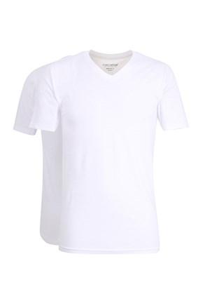 2 pack pánskych tričiek Slim White
