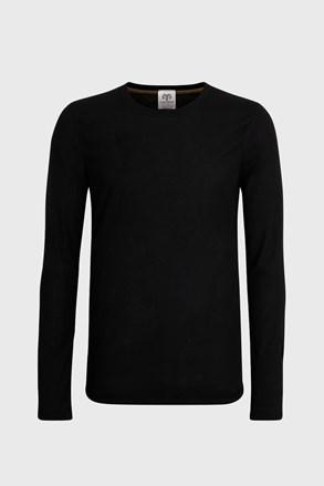 Pánske tričko s dlhými rukávmi v čiernej farbe