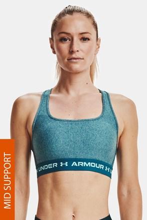 Tyrkysová sportovní podprsenka Under Armour Crossback Heather