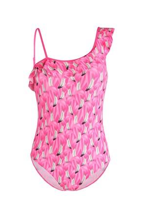 Dievčenské jednodielne plavky Flamingo