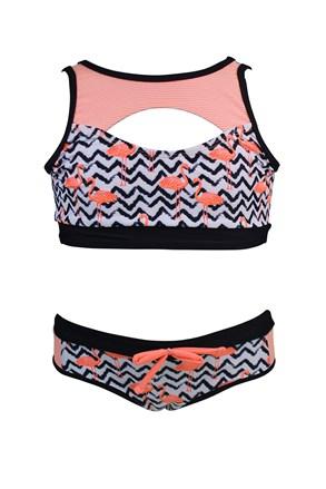 Dievčenské dvojdielne plavky Flamingo