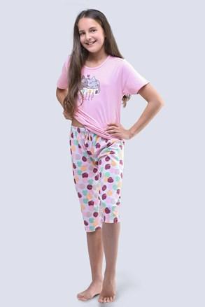 Dievčenské pyžamo Cats ružové