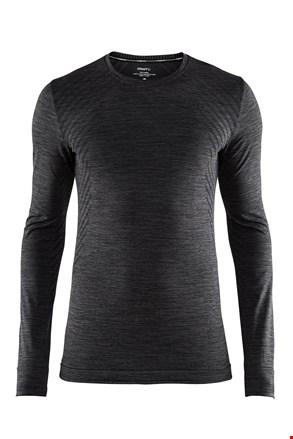 Pánske tričko Craft Fuseknit Comfort tmavosivé