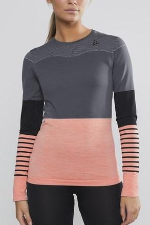 Dámske tričko Craft Fuseknit Comfort sivo-ružové