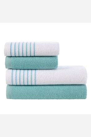 Súprava uterákov a osušiek Eleganza tyrkysová