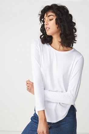 Kathleen női hosszú ujjú basic póló, fehér