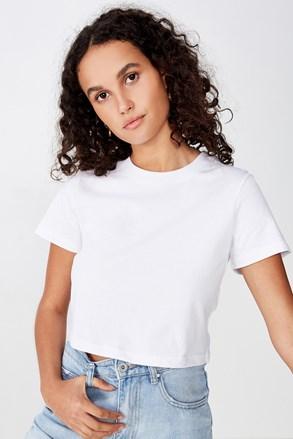 Baby női rövid ujjú basic póló, fehér