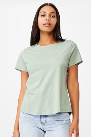 Dámske basic tričko s krátkym rukávom Crew zelené