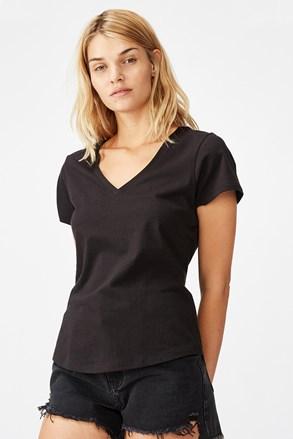 Dámske basic tričko s krátkym rukávom One čierne