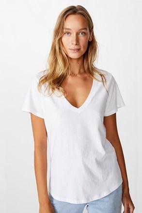 Dámske basic tričko s krátkym rukávom One biele