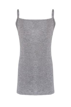 Dievčenské bavlnené tielko Simply sivé