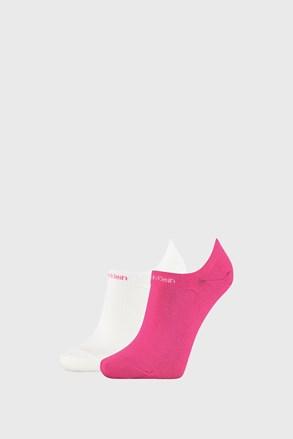 2 PACK dámskych ponožiek Calvin Klein Leanne ružovo-biele