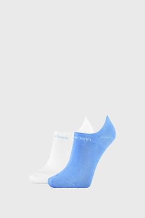 2 PACK dámskych ponožiek Calvin Klein Leanne modro-biele