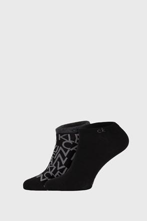 2 PACK čiernych ponožiek Calvin Klein Deangelo