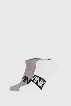 2 PACK sivo-bielych ponožiek Calvin Klein Dirk