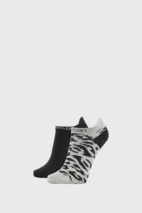2 PÁR Calvin Klein Libby női zokni, szürke és fekete