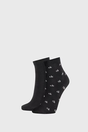 2 PACK dámskych čiernych ponožiek Calvin Klein Gretchen