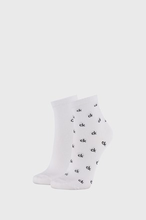 2 PÁR Calvin Klein Gretchen fehér női zokni