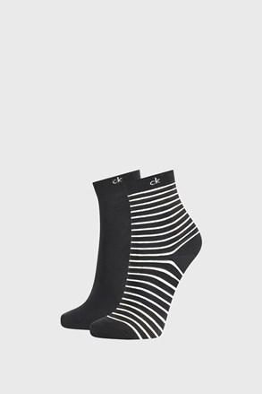2 PÁR Calvin Klein Lilly fekete női zokni