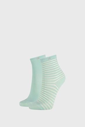 2 PÁR Calvin Klein Lilly zöld női zokni