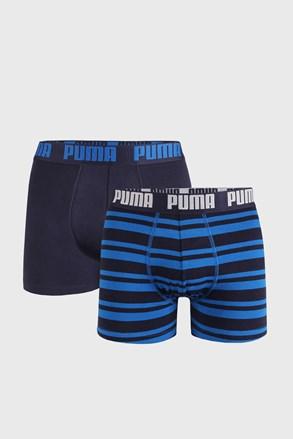 2 PACK modrých boxeriek Puma Heritage Stripe