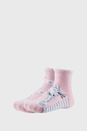 2 PÁR Floral lányka zokni