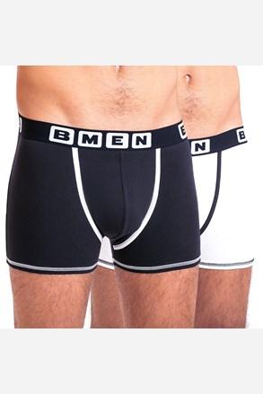 2 pack pánskych boxeriek BELLINDA BMEN čierno-biele