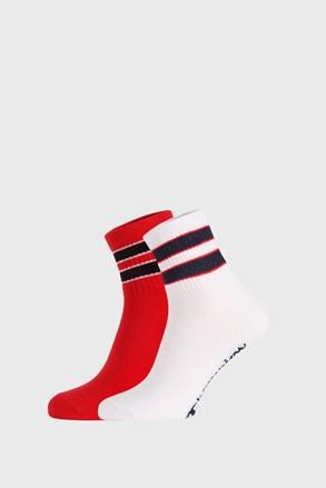 2 PÁR piros-fehér zokni Champion Legacy