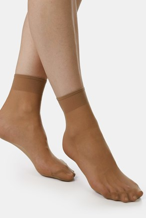 2 PACK dámskych pančuchových ponožiek EVONA Silver 20 DEN