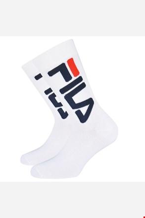 2 pack bielych vysokých ponožiek FILA
