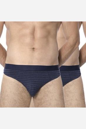 2 pack pánskych slipov Stripes Blue