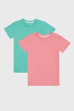 2 PACK dievčenských basic tričiek