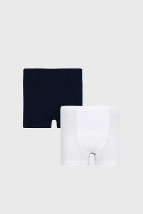 2 PACK modro-bielych chlapčenských boxeriek Basic