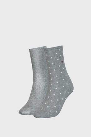 2 PACK dámskych ponožiek Tommy Hilfiger Dot Grey