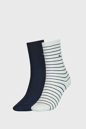 2 PACK modro-bielych dámskych ponožiek Tommy Hilfiger Stripes