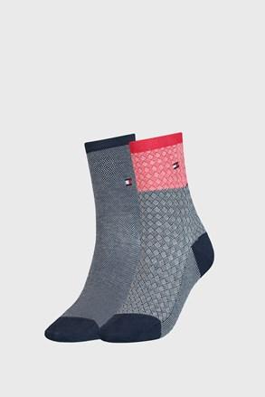 2 PÁR Tommy Hilfiger Argyle III női zokni