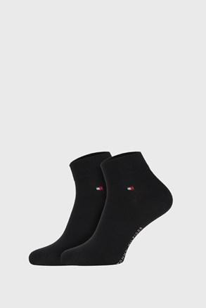 2 PÁR fekete zokni Tommy Hilfiger Quarter